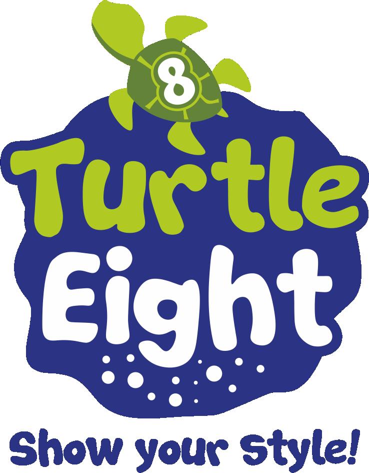 label 8 turtle logo